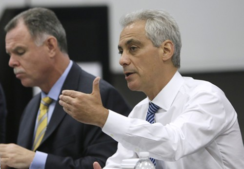 Mayor Rahm Emanuel and police chief Garry McCarthy are sticking to their script on police staffing: were all good.