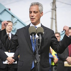 "Mayor Rahm Emanuel says he's been ""making tough decisions"" for Chicago, and he just might be campaigning for reelection."