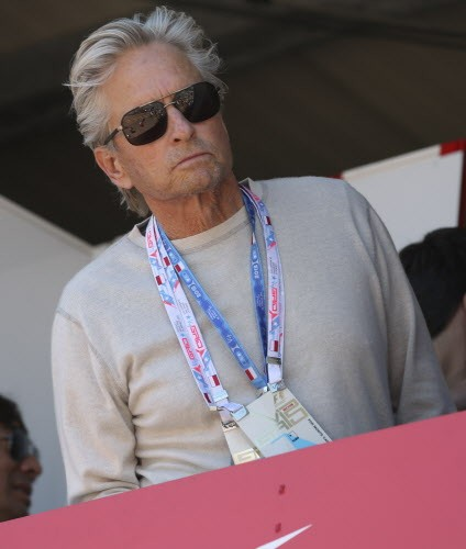 Michael Douglas at the Monaco Grand Prix