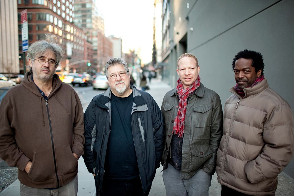 Michael Formanek, second from left, with Tim Berne, Craig Taborn, and Gerald Cleaver