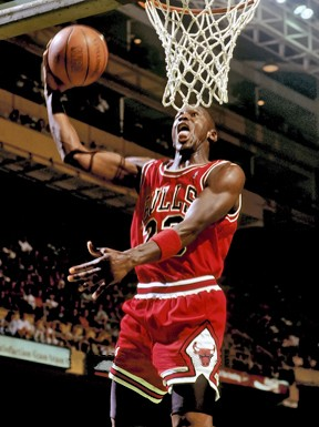 Michael Jordan: Lets see you do this.