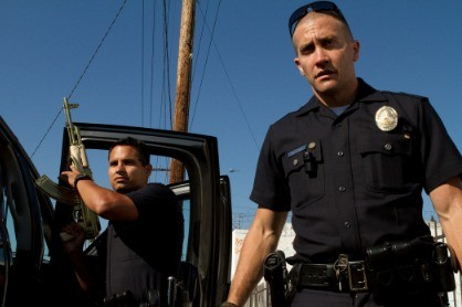 Michael Pena and Jake Gyllenhaal in End of Watch