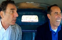 Seinfeld in a car, doing what he pleases