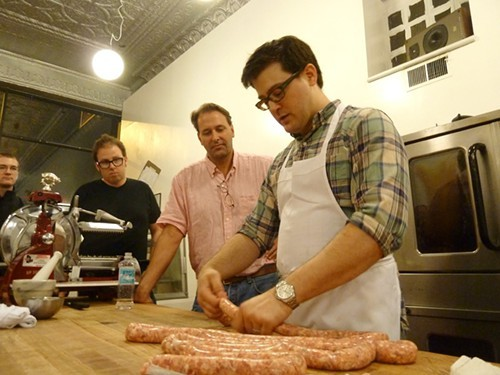 Michael Ruhlman at a Charcuterie-related event at The Butcher & Larder in 2011.