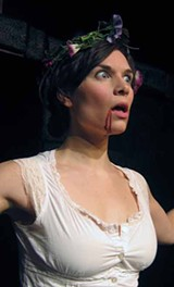 Michaela Petro in WildClaw Theatre's The Great God Pan