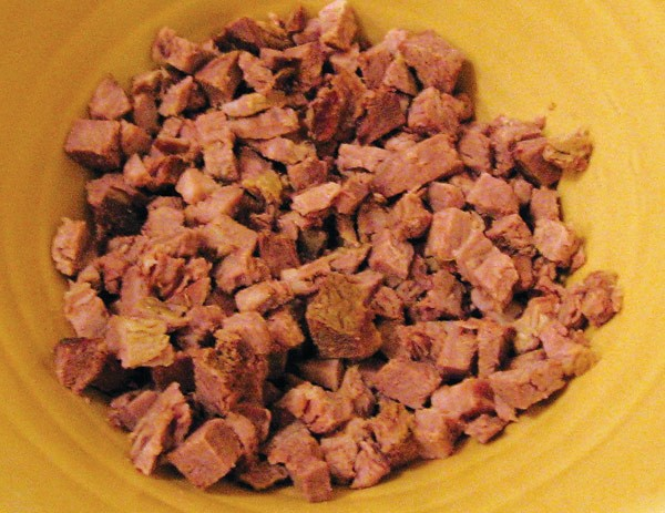 minced boiled beef