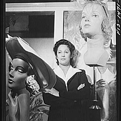 """Miss Selma Barbour, manager of the Cecilian Specialty Hat Shop, 454 East 47th Street."""