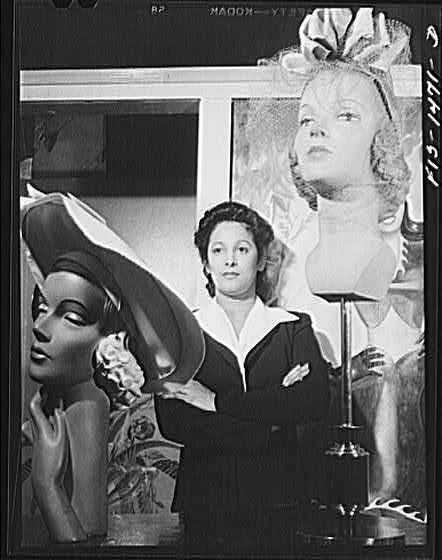 Miss Selma Barbour, manager of the Cecilian Specialty Hat Shop, 454 East 47th Street.