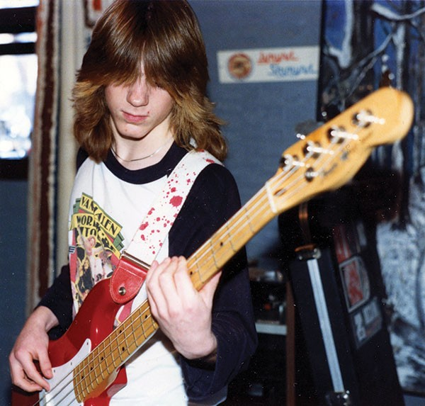 Molina played bass in his high school days, most notably with his metal band, Spineriders. - COURTESY MISRA