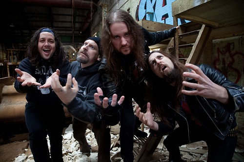 Municipal Waste and several invisible oranges. Thats Mr. Witte second from left.