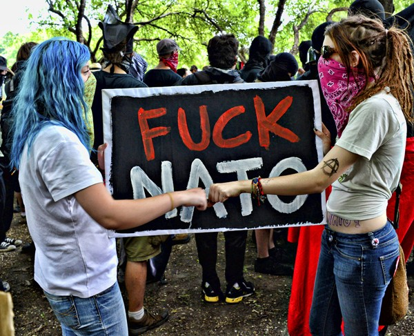 Nato Protest. Grant Park, May. By Paul Boucher - PAUL BOUCHER