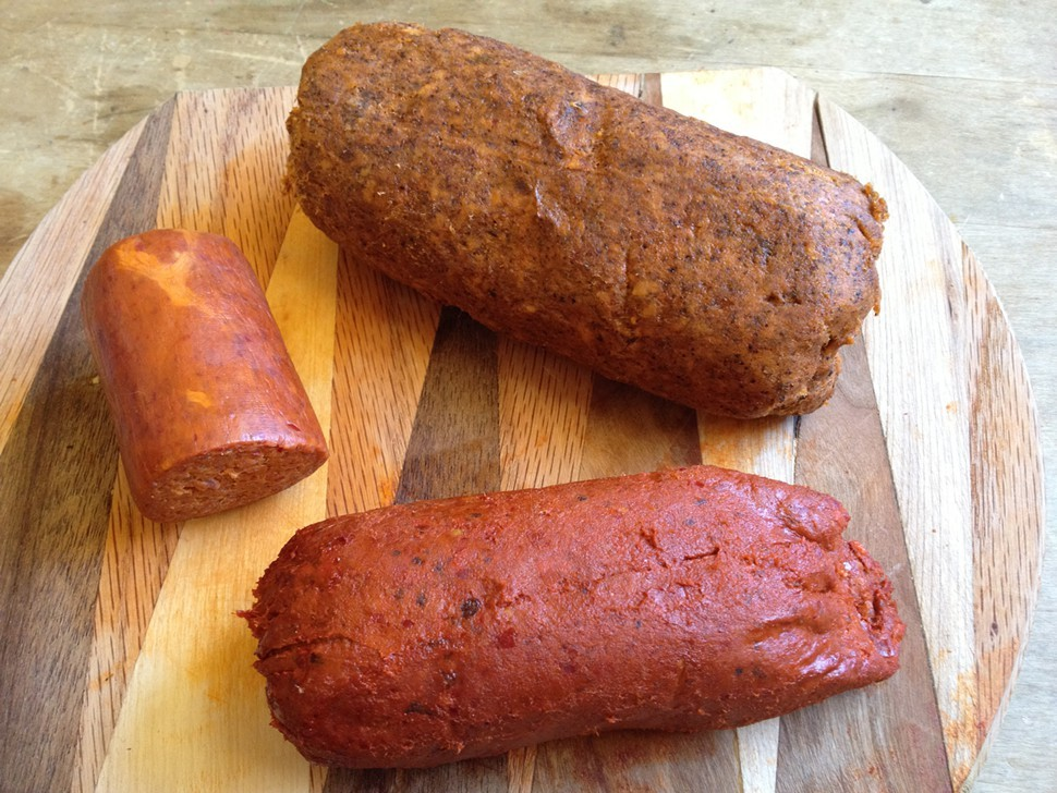 Ndujas 3: clockwise from left, PQM, La Quercia, Nduja Artisans