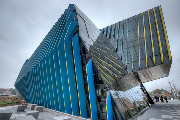 NEIU's new El Centro, designed by Juan Gabriel Moreno of Chicago-based JGMA