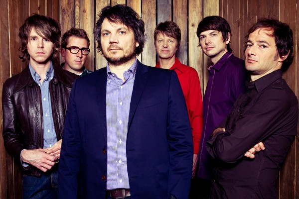 Nels Cline, third from right, with Wilco