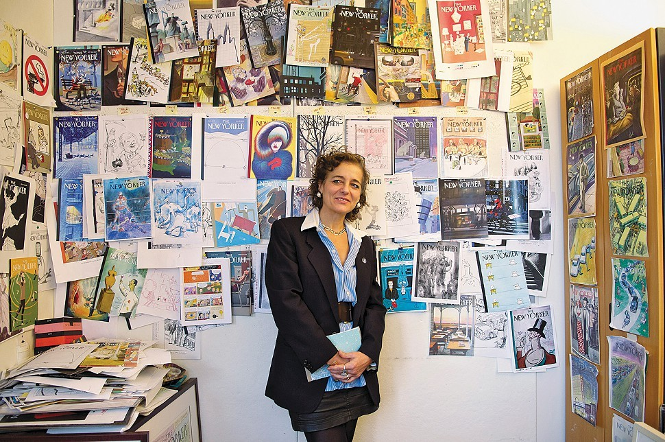 New Yorker art editor Francoise Mouly in her office