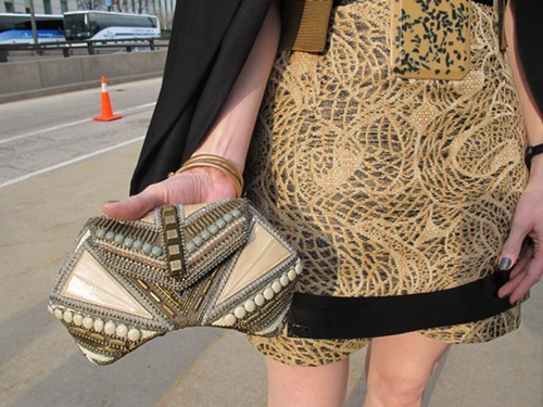 Nicolas beaded clutch
