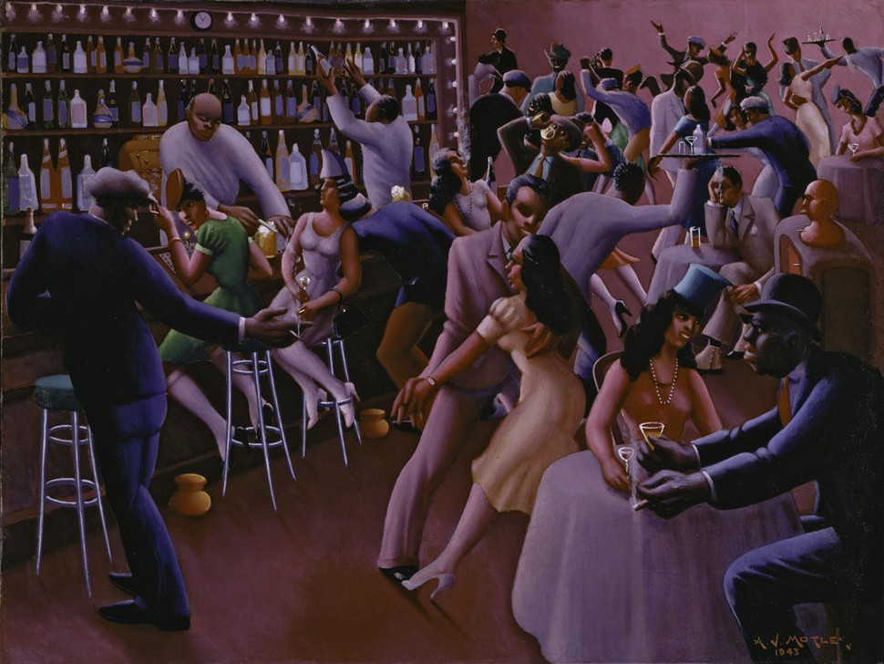 Nightlife, 1943, Archibald J. Motley, Jr.