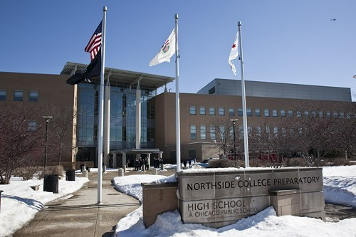 Northside College Prep, at 5500 N. Kedzie, shown in February. In April, U.S. News online ranked Northside the No. 1 public high school in Illinois.