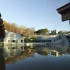 Not the Lucas Museum: East entrance, Crystal Bridges Museum of American Art