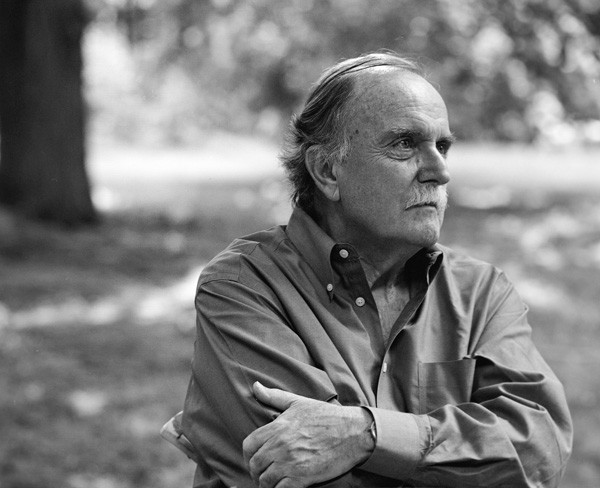 One of Alvin Lucier's best-known works is a minimalist 1969 piece for voice and tape called I Am Sitting in a Room. Here, however, he's obviously outdoors and may even be standing.