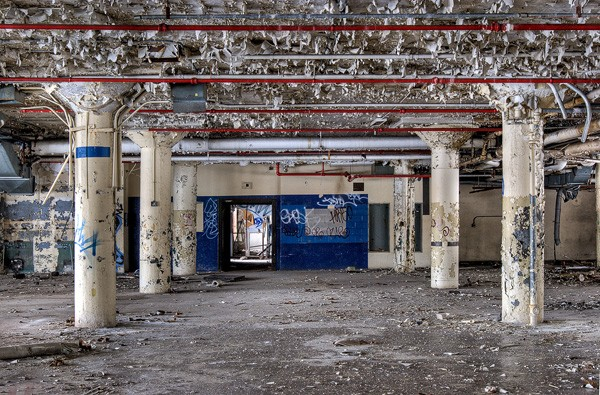 "One of Katherine Hodges's earliest urbex adventures occurred with a Meetup group called Chicago in Decay, which organized an expedition to the old Brach's candy factory. ""There's that thrill of being somewhere you're not supposed to be,"" Hodges recalls. - ERIC HOLUBOW"