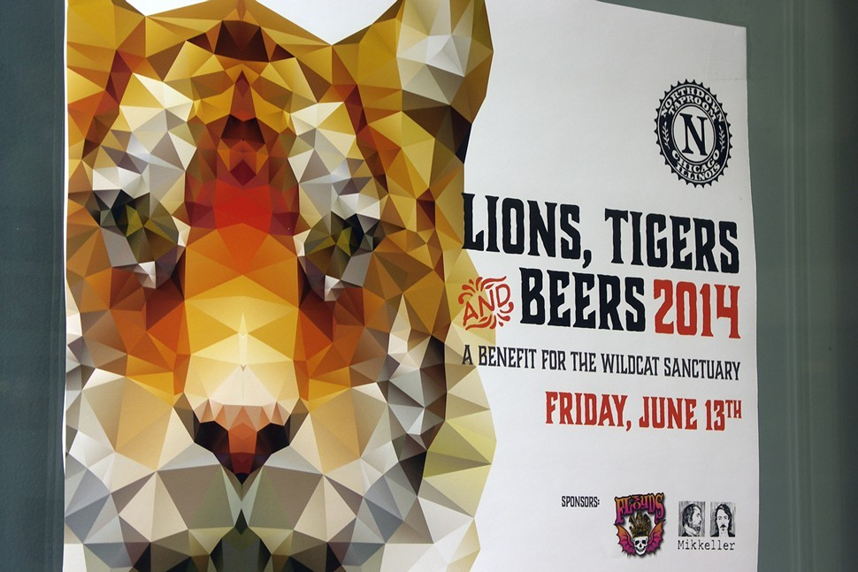 One of Kristin Miasos designs for Lions, Tigers and Beers. No origami artists were harmed in the making of this poster.