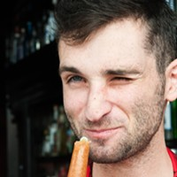 Danny Shapiro of Scofflaw makes a Poopsicle Or not. Andrea Bauer