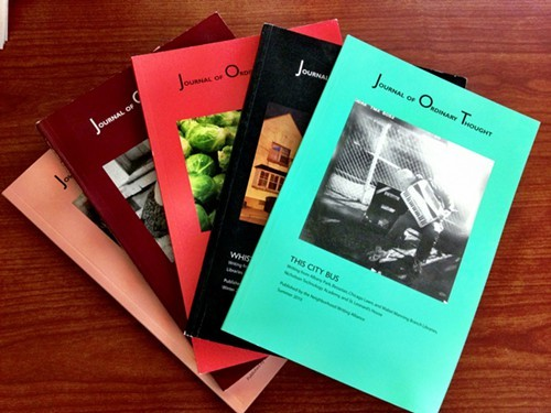 Past issues of the Journal of Ordinary Thought