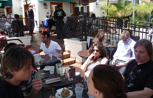 Patio scene at Urth