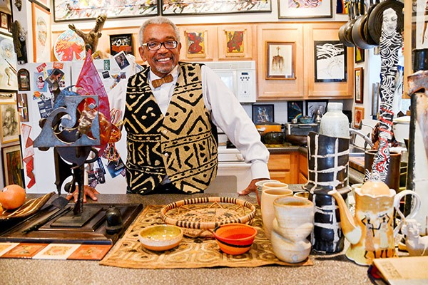 Patric McCoy, whose 1,300-piece art collection lines every wall of his Kenwood home - ALISON GREEN
