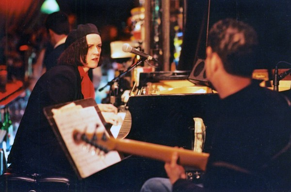 Patricia Barber with Blue Note label mate Charlie Hunter c. 1999 - MICHAEL JACKSON