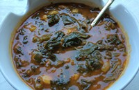 Paul Fehribach shares a recipe from <i>The Big Jones Cookbook</i>: gumbo z'herbes