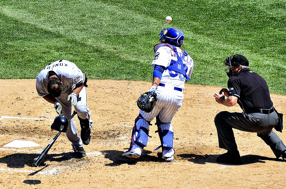Paul Konerkos midseason beaning at the hands of the Cubs Jeff Samardzija: an omen of what was to come.
