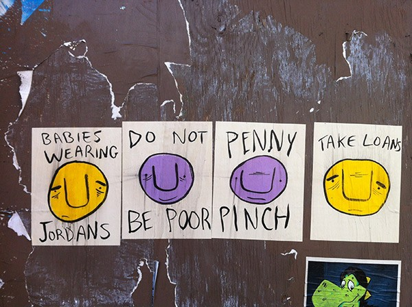 Penny Pinch dispenses some financial advice. - BILLY CRAVEN