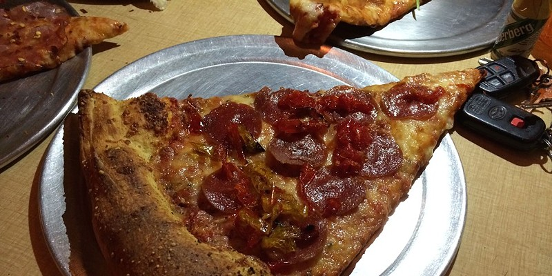 Pepperoni and sweet pepper, Roxie's by the Slice
