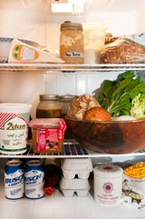 [Photo: Inside blogger Hugh Amano's refrigerator]
