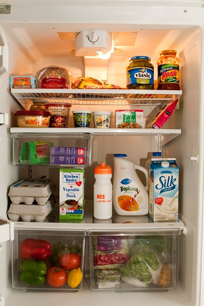 [photo: Inside registered dietician Jennifer Vimbor's refrigerator]