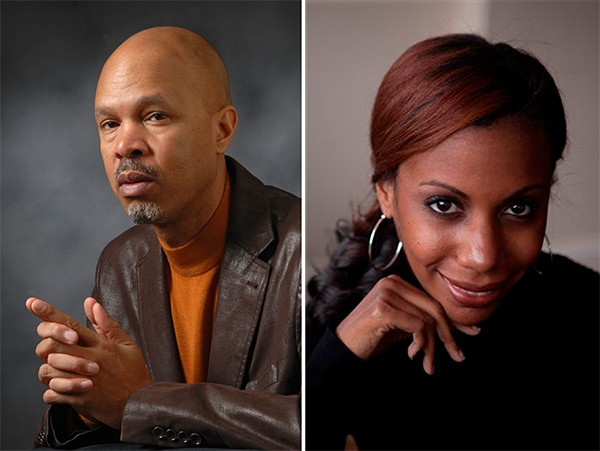 [photographs of authors Lance Williams and Natalie Y. Moore]