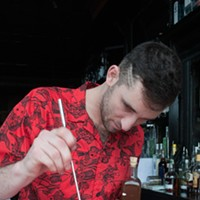 Danny Shapiro of Scofflaw makes a Poopsicle Place durian in glass. Andrea Bauer