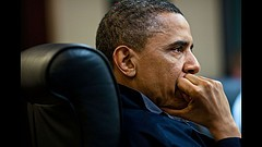 President Obama being briefed on the raid that killed bin Laden