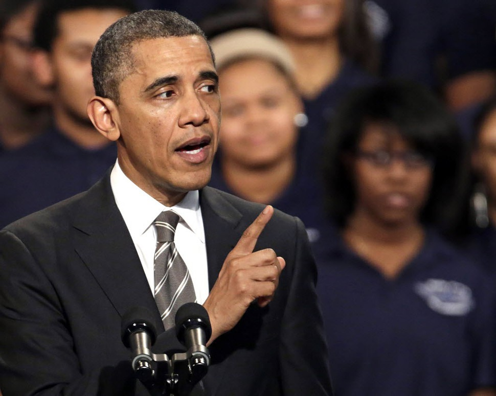 President Obama speaking in Chicago last Friday. Bias against blacks has increased since his election in 2008.