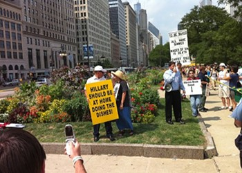 Protesters at Lollapalooza, Protesting Whatever