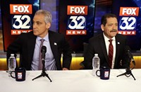 In the second runoff debate, Emanuel shows he still can dance