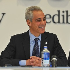 Rahm Emanuel, during Friday's debate in front of the Sun-Times editorial board.