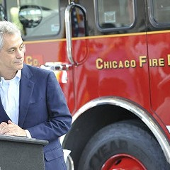 Rahm's got the Chicago Firefighters Union behind him.