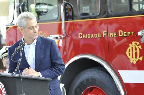 Rahms got the Chicago Firefighters Union behind him.