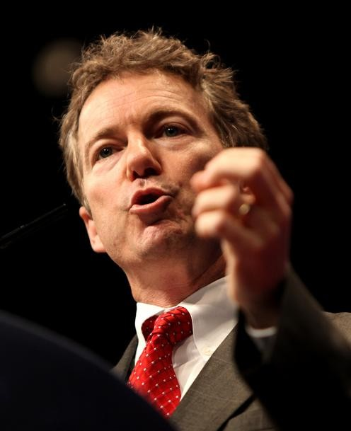 Rand Paul demonstrating his doob-smoking technique.
