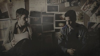 Ransone (right) with Ethan Hawke in Sinister