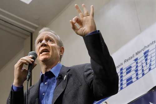 Rauner wants lower taxes, less government spending, and weakened unions