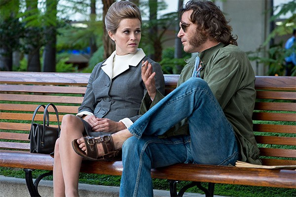 Reese Witherspoon (left) and Joaquin Phoenix in Inherent Vice